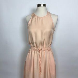 Lou & Grey long peach dress drawstring open back